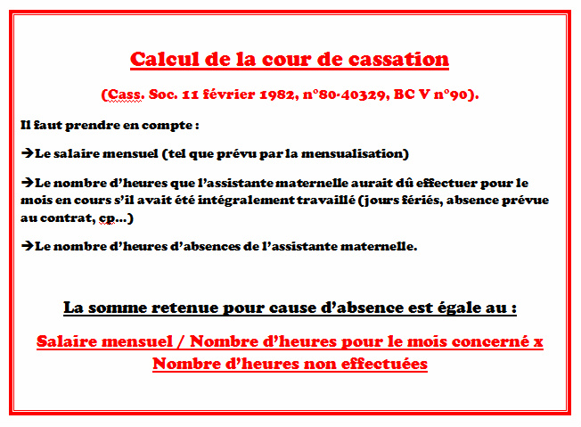 Pajemploi Calcul Absence