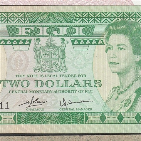 Fiji 2 Dollars Nd 1980 P 77 Unc South Pacific