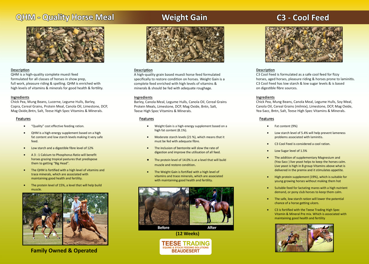 Our Equine Feeds - www teese-trading-company com