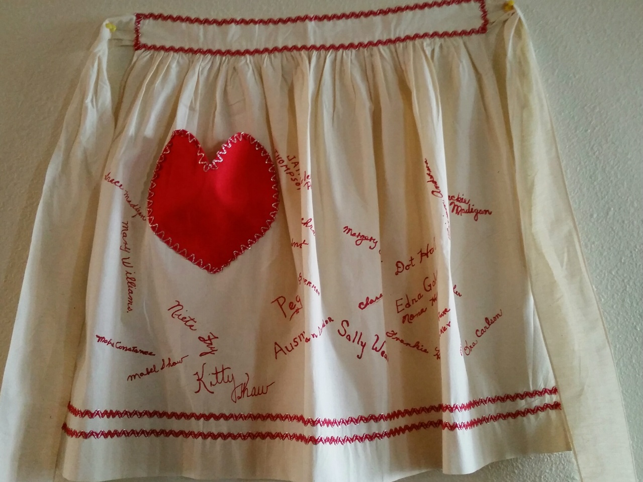White apron old school rs - My Mom S Shower Apron