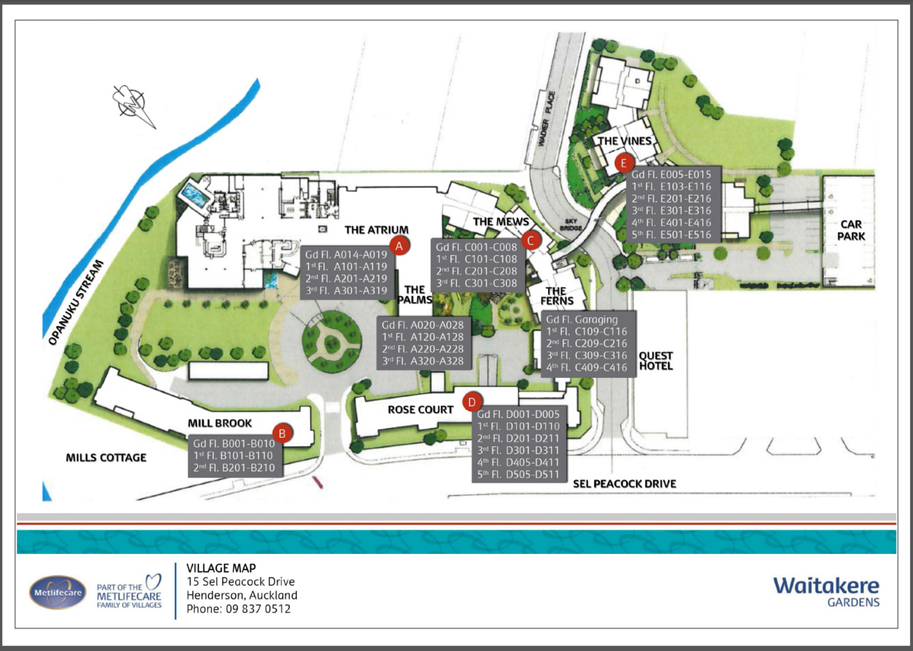 Village site plan for Retirement village house plans