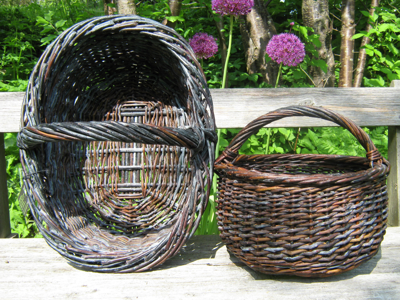 How To Weave A Hazel Basket : Images about willow and other weaving stuff but