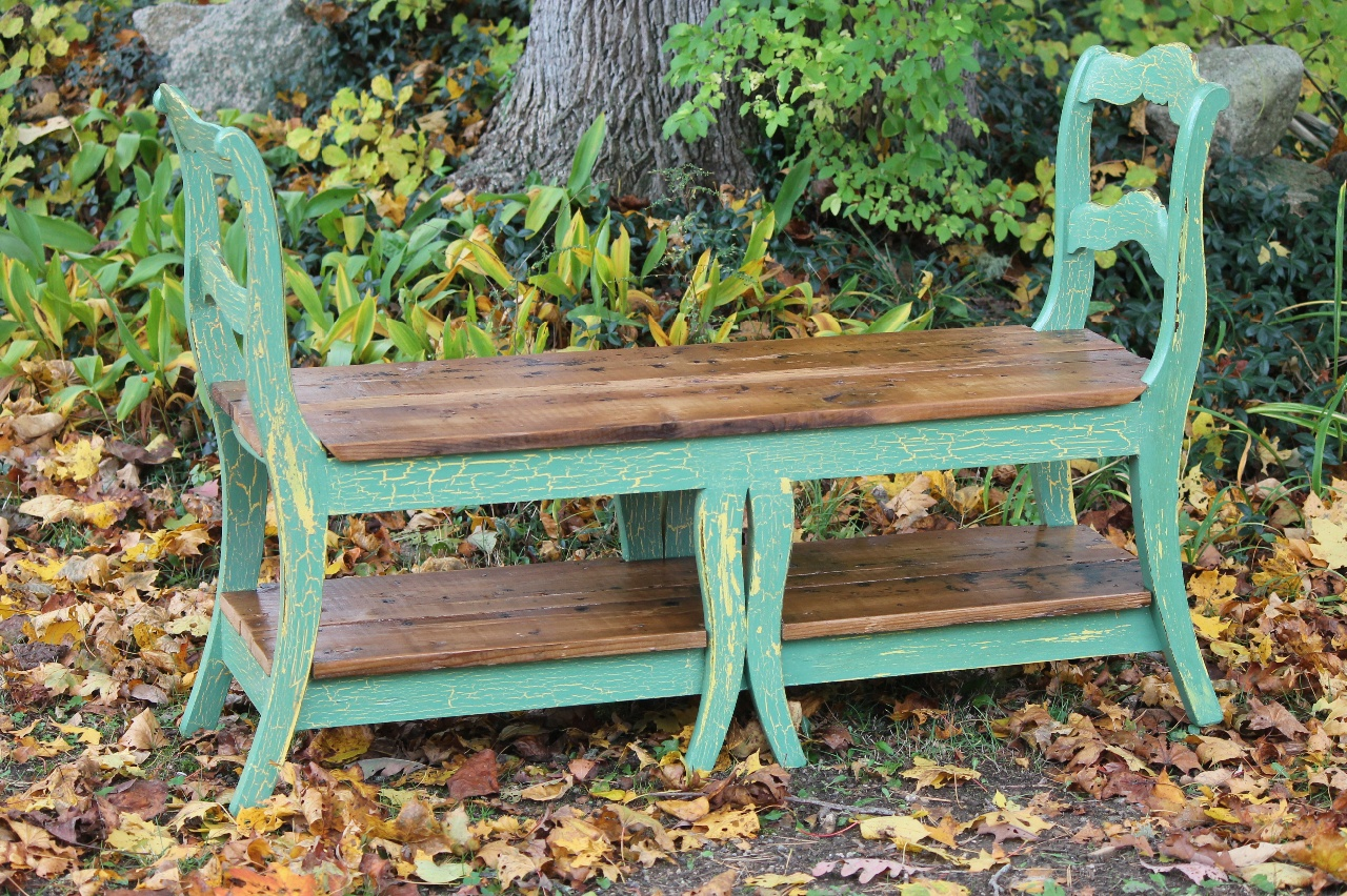 Entryway Bench Made From Reclaimed Dining Chairs And Reclaimed Fir.