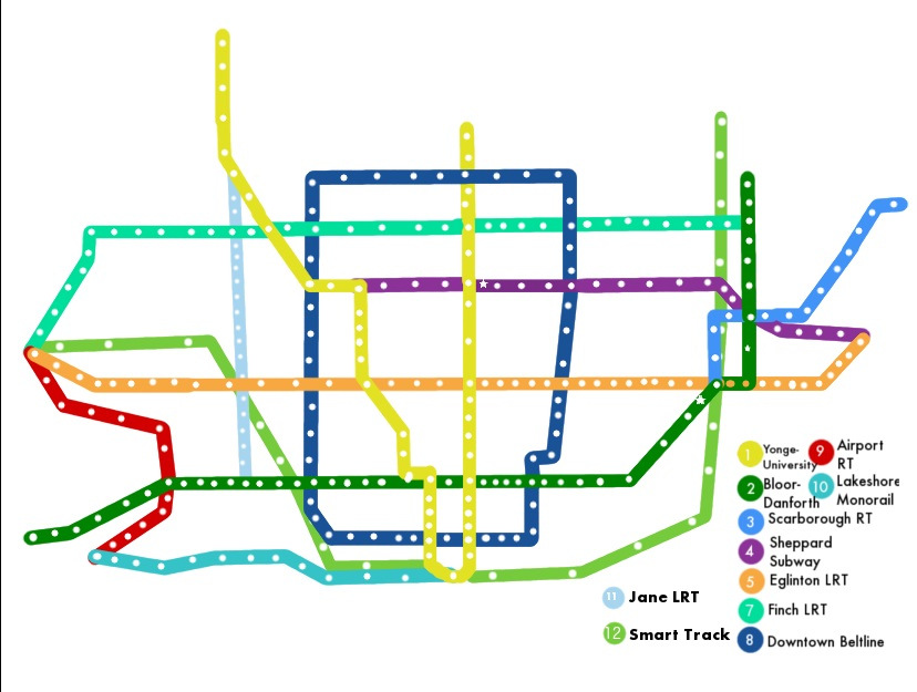 Fantasy Toronto Subway Map.Fantasy Maps Www Torontotransitblog Com