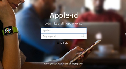glemt kode apple id