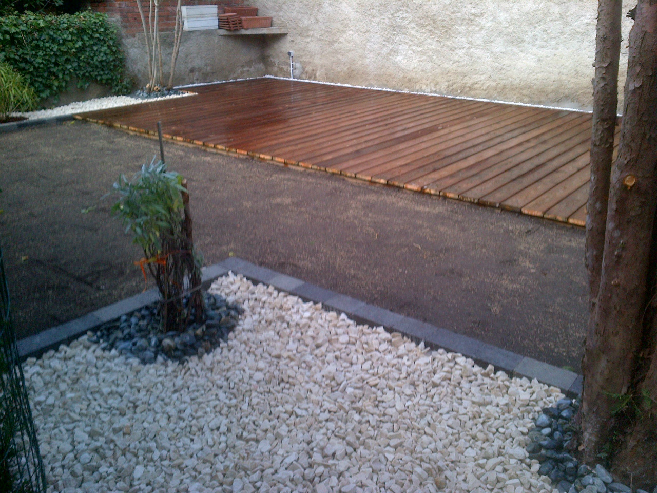 Dallages terrasses for Bordure piscine bois
