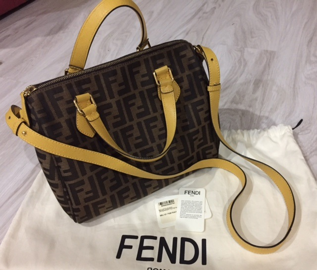 db850c10fc ... leather f280504 0b871 0d8ce reduced authentic fendi boston bag  condition 8.5 10 good condition colour brownyellow selling price sgd 470 ...