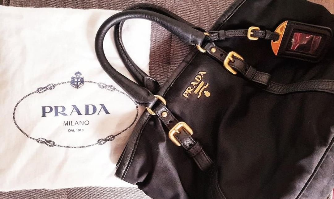 93053ce7953b90 ... promo code for prada nylon tote with strap measurements 12.5 in length  x 6 inches width