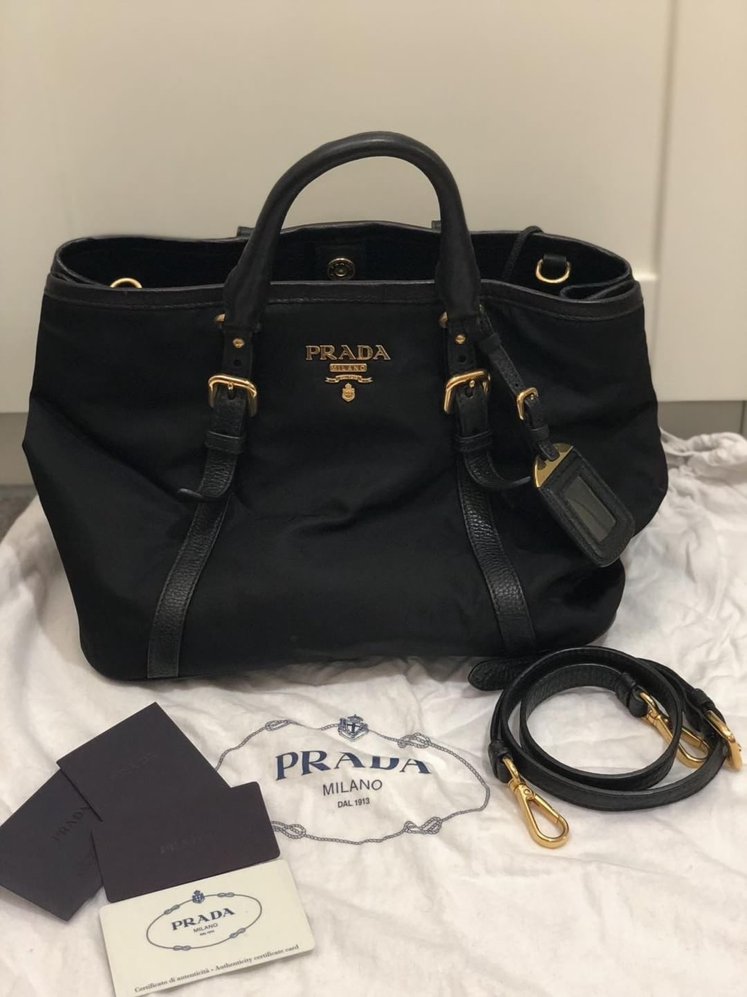 ... coupon code for prada bn1841 tessuto shooping tote condition 9.5 10  like new used less than aaaf87953c7d8