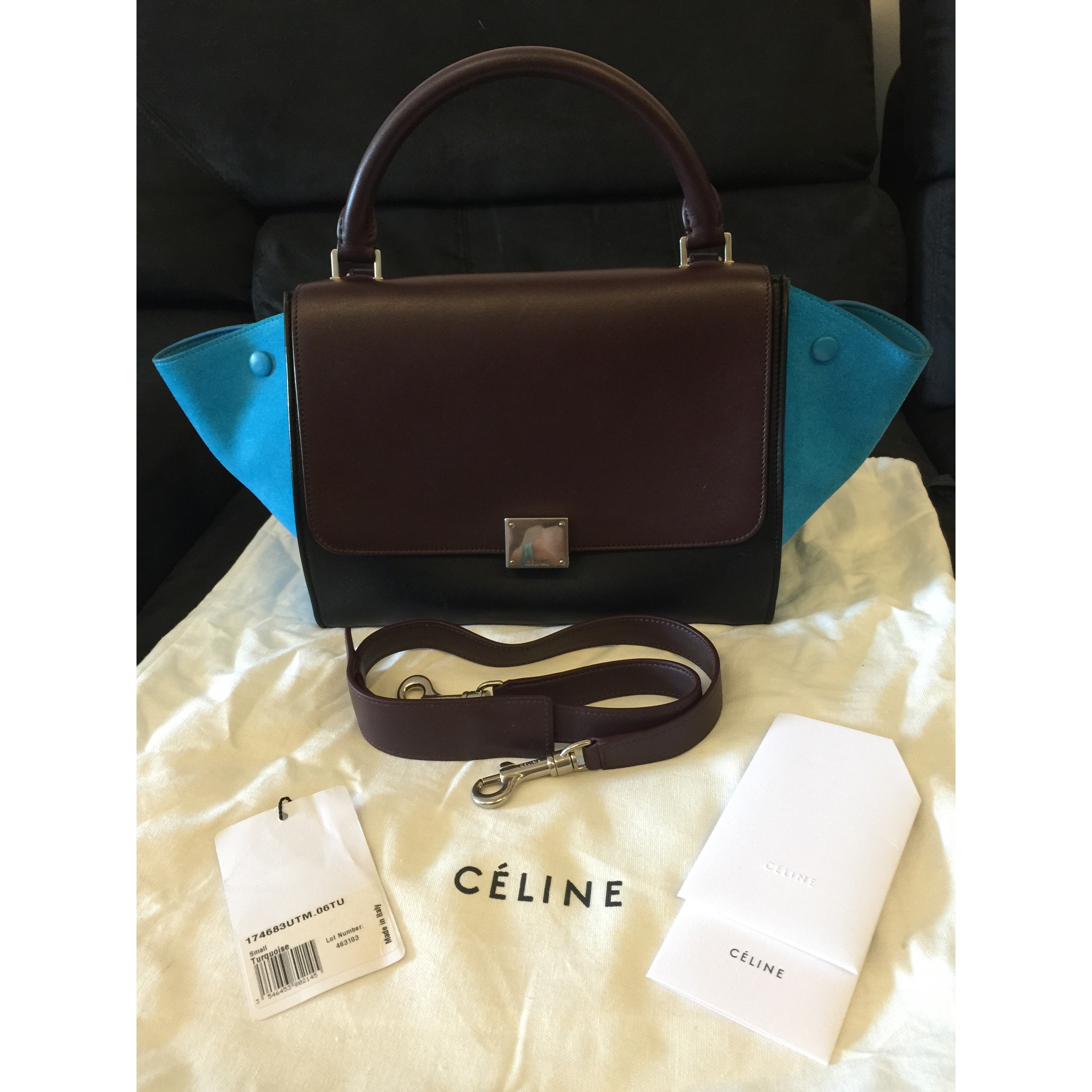 51003f2abf Celine Tri-color Trapeze Bag - small Conditions   9.5 10 like new  Color Material   as shown in pic calfskin Remark- no scratches