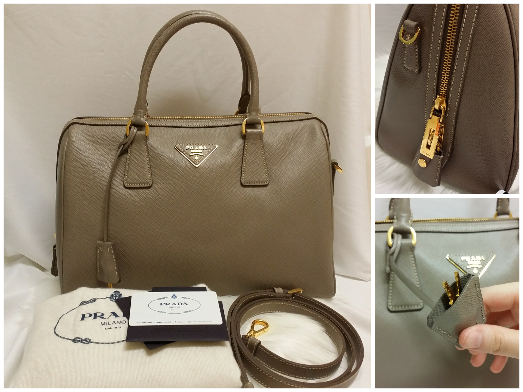 63ba37af4c5c PRADA BL0823 TESSUTO SAFFIANO LUX LEATHER BAG. 100% Authentic (Bought it  from London). Condition : 9.9/10 (only used once).