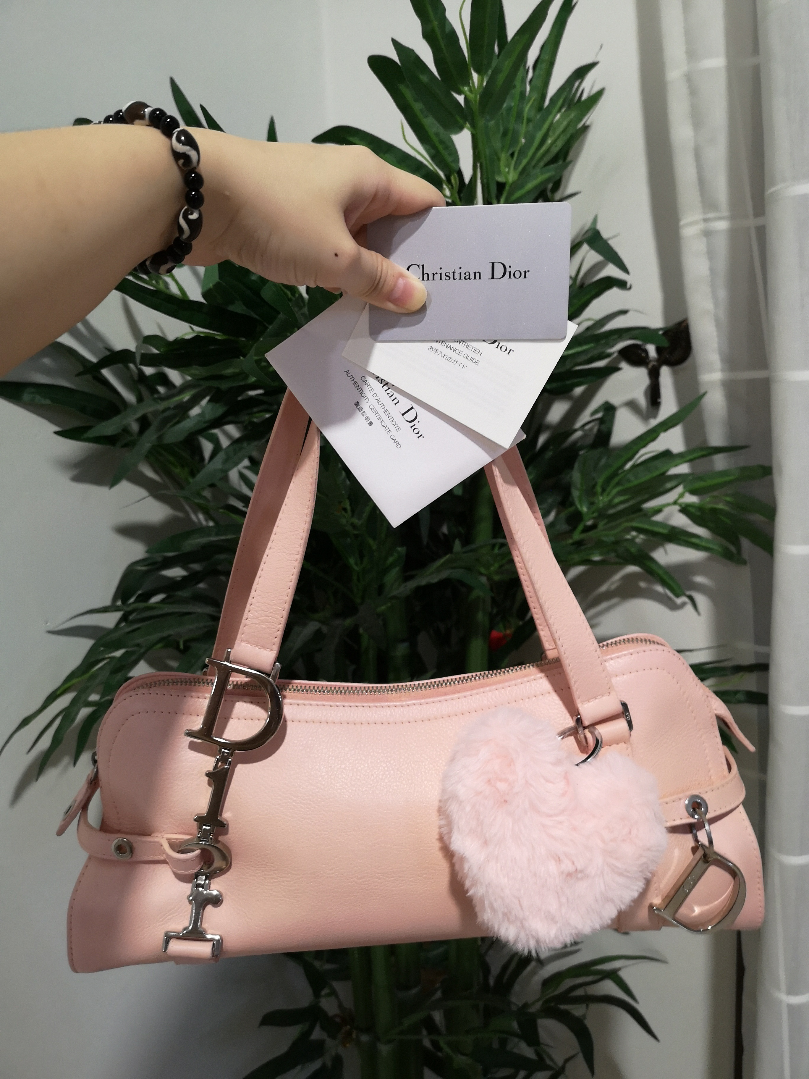 081bffc9e46e Christian Dior tote bag, free love shape bag charm. 100% guarantee authentic  Measurements : 35x15x11cm Condition : Pristine, bag has been sent and done  with ...