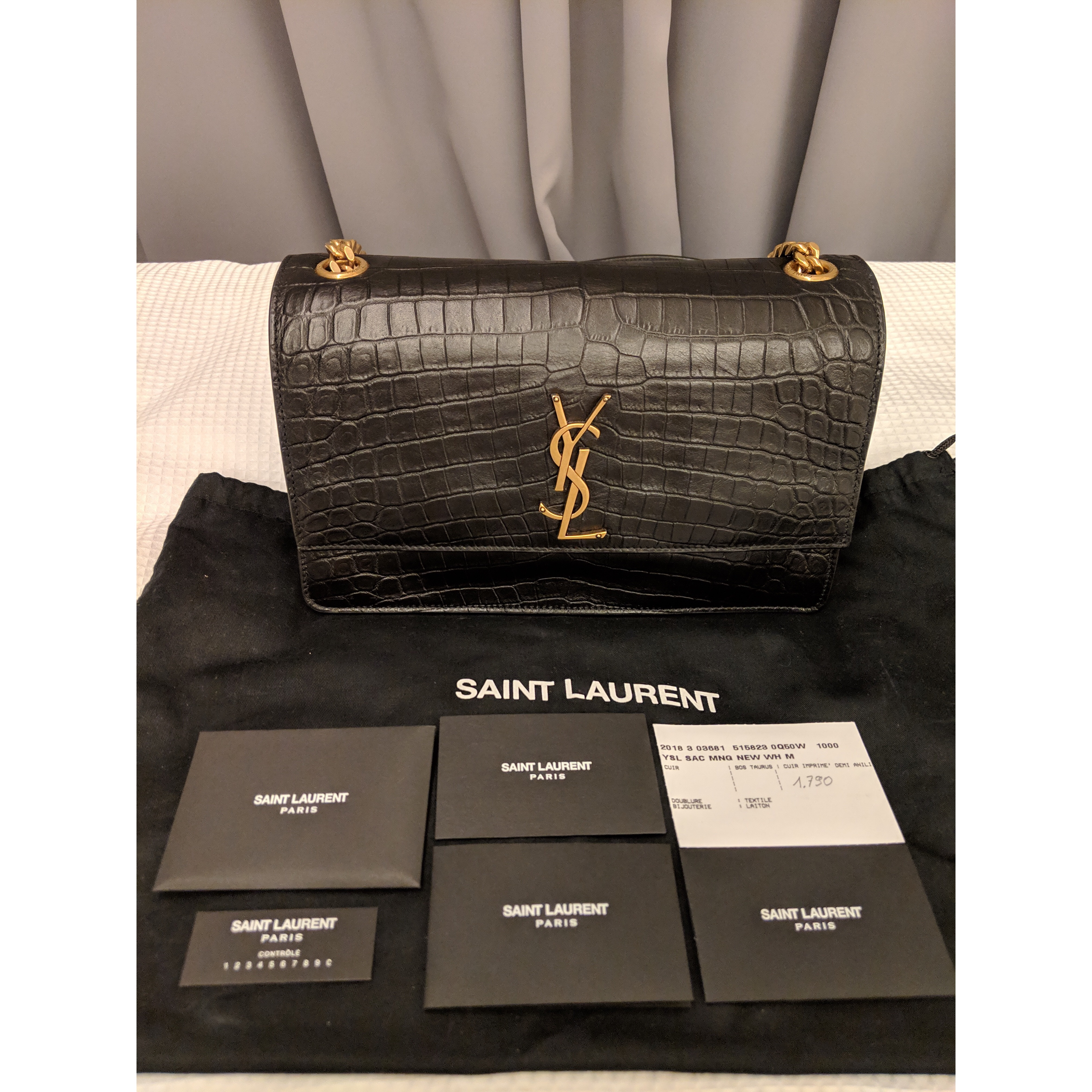 a1d7d3a89d7 YSL Sunset Supple Medium in Croc embossed leather Measurements :  25.5x15.5x11 CM Condition : Brand New & Unused Color/Material : Calf skin  leather Mother's ...