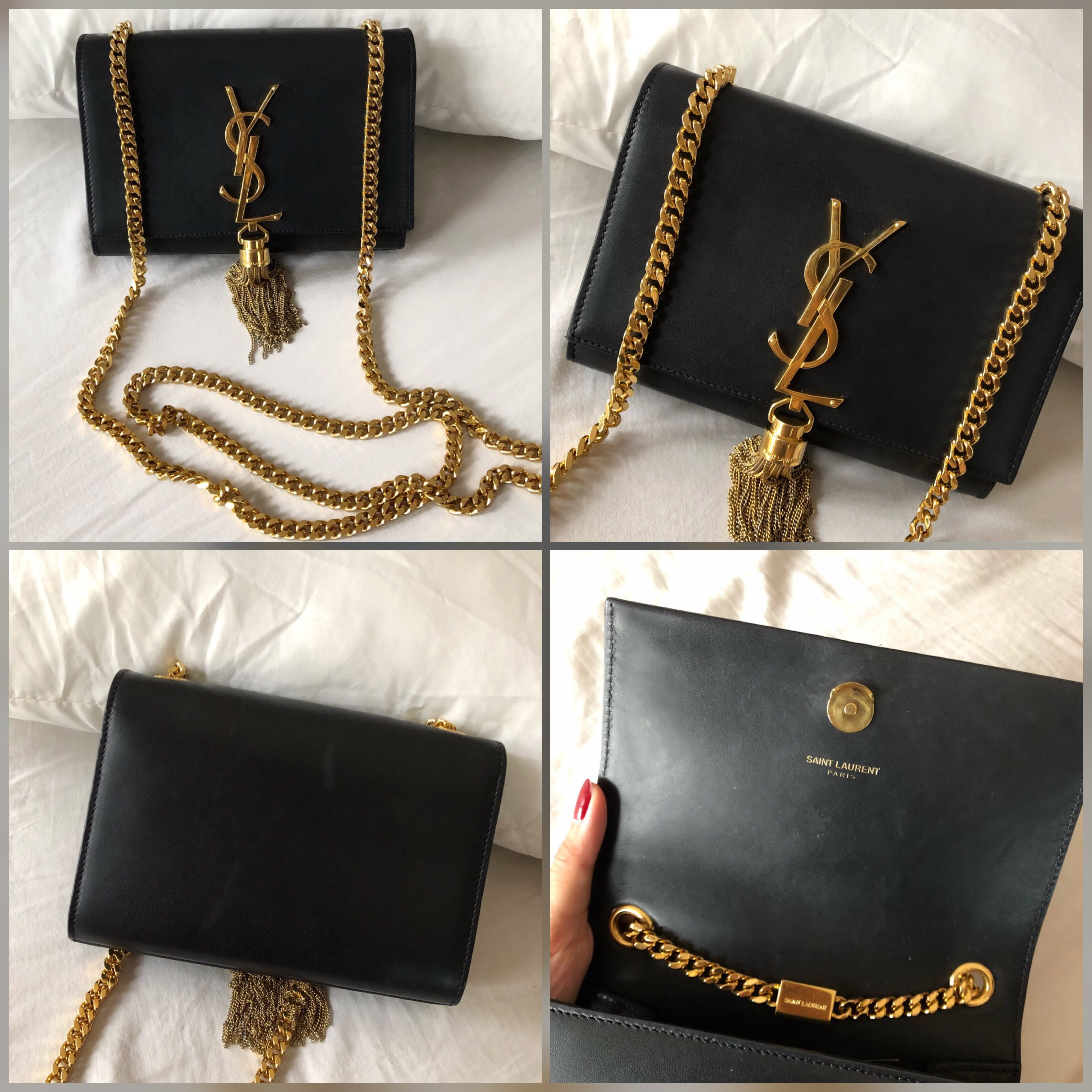 3aac1f542dc Saint Laurent Kate Tassel Small Smooth leather Bag only Good condition but  has signs of usage as per photos. Not for fussy buyers Selling Price :  SGD1330 ...