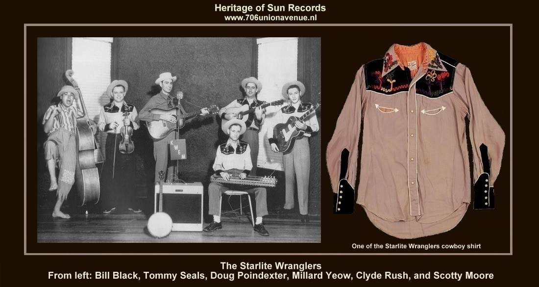 c1022ff63ed8 THE STARLITE WRANGLERS - Country band, headed by Doug Poindexter, who  appeared in the local clubs in Memphis and who cut a few records for the  Sun label.