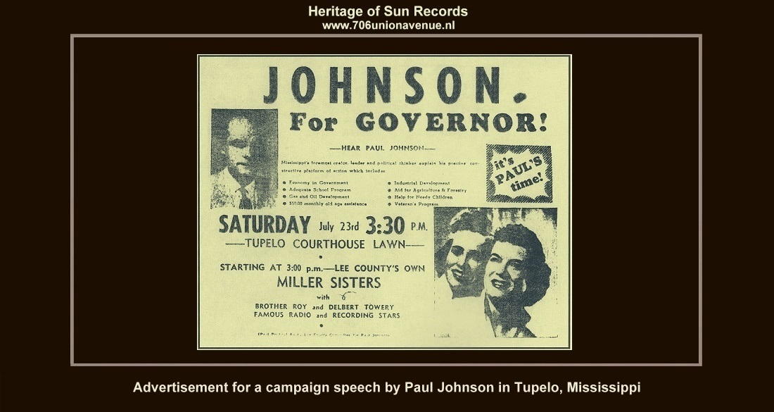 1955 sun sessions 1 www 706unionavenue nl\u0027\u0027we played the ernest tubb record show in nashville we also played on jimmie rodgers memorial day in meridian, mississippi