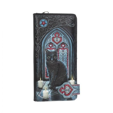 New Witches Apprentice Cat Lisa Parker Embossed Long Ladies Purse Wallet Nemesis