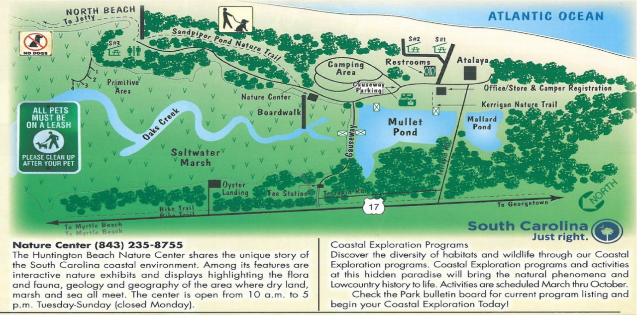 Huntington Beach State Park Map