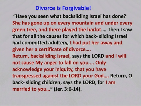 Divorce & Remarriage - www seriousfortruth com